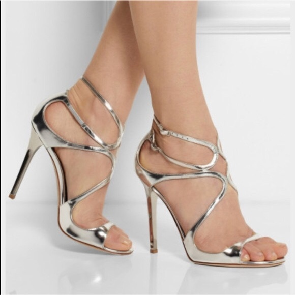 499f20b2c49e Jimmy Choo Lang Strappy Mirror Leather Sandals